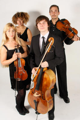 The ST String Quartet ref 6334 Formal dress for your string quartet who perform in Surrey, Sussex, W