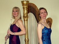 The AP Flute and Harp duo in Staffordshire
