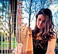 Harpist - Megan in South Wales